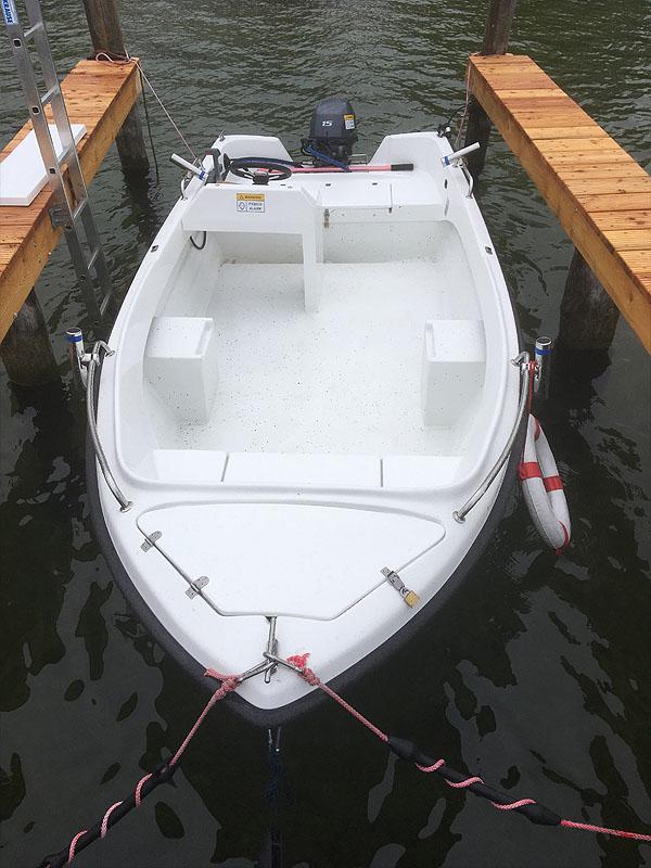 Angelboot 6,25m mit Fischkasten