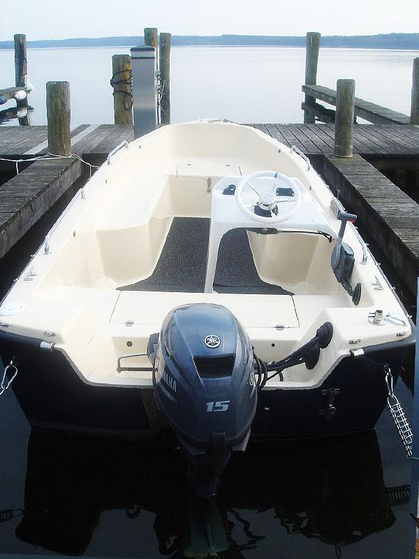 Angelboot 4,80m mit Steuerstand